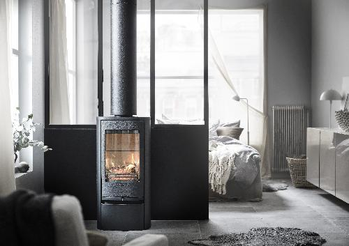 Contura 810 - Contura 810 black - Cast iron door, lacquered aluminium top plate and door - Carron-Lugon