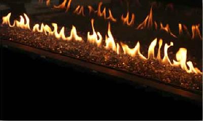 Decoración de la chimenea: zafiro