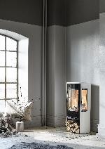 Contura 856 - Contura 856 schwarz - Tür aus Gusseisen, Wanne aus lackiertem Aluminium - Carron-Lugon