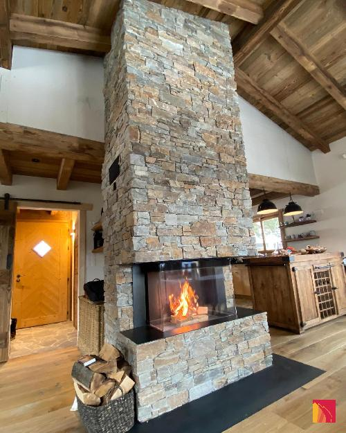 3-sided fireplace Luna Diamond 1000DC
