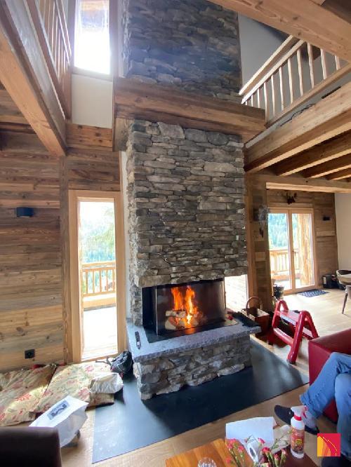 3-sided fireplace Luna Diamond 800DC