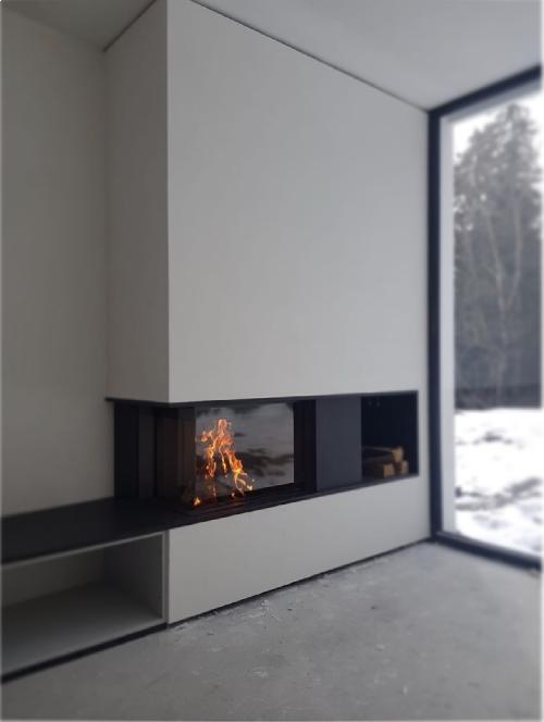 Corner fireplace Luna Diamond 900CL