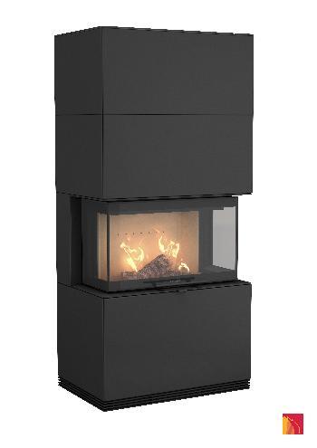 Contura i51 - Contura i51 black version with wood storage rack - Carron-Lugon