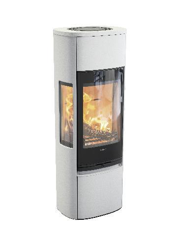 Contura 896 - Contura 896 zwart - Gietijzeren deur, gelakte aluminium bovenplaat - Carron-Lugon