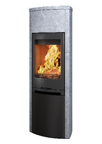 Contura 790T - Contura 790T cinza com porta de pedra sabão - Carron-Lugon
