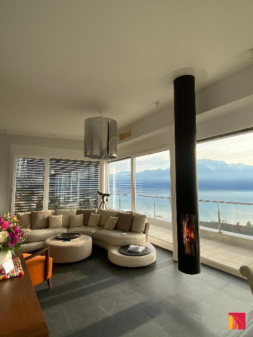 Focus Slimfocus suspended fireplace