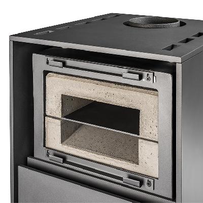 Acumulador eficiente: O módulo acumulador é completamente varrido por todos os lados pelos gases de combustão quentes.