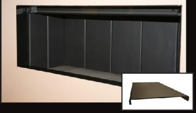 El interior de acero negro