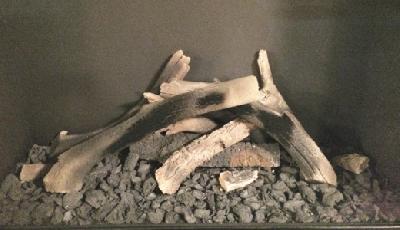Decoración de chimeneas: Juego de troncos N°3