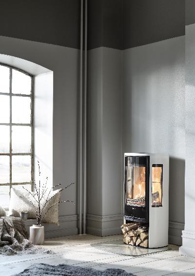 Contura 856 white - Glass door, lacquered aluminium top