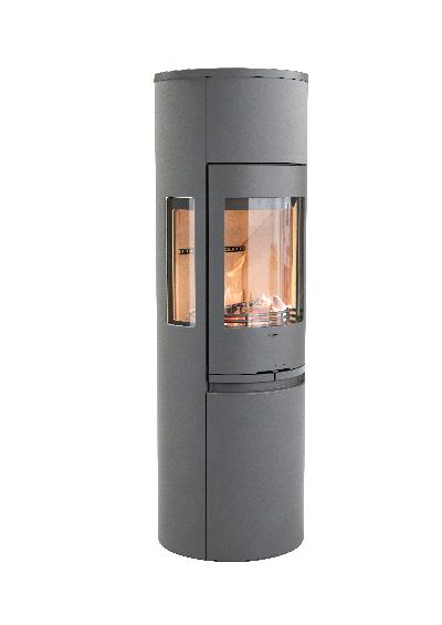 Contura 596 grey - Cast iron door, cast-iron tray